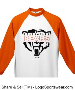 Adult 3/4 Sleeve 50/50 Raglan Sleeve Shirt Design Zoom